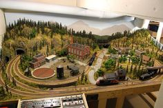winter scene model train layout - Google Search