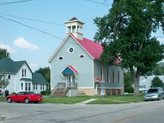 This former church was transformed into a home
