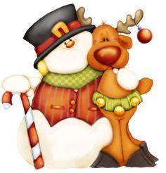 deer snowman