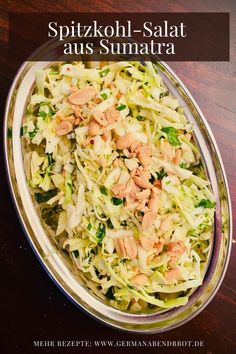 Spitzkohl-Salat aus Sumatra Weeknight Meals, Easy Meals, Friday Night Dinners, Date Dinner, Yummy Food, Yummy Recipes, Salad Recipes, Cabbage, Food And Drink
