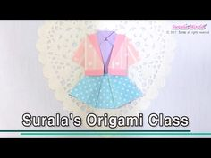 Origami - Girl's clothes : Jacket, Shirt, Skirt - YouTube