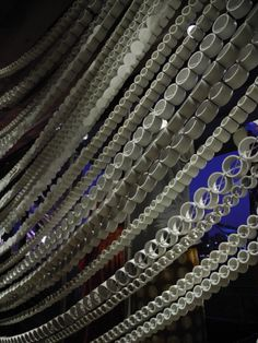 Chain made from PVC pipe, Anthropologie Fashion Valley, San Diego