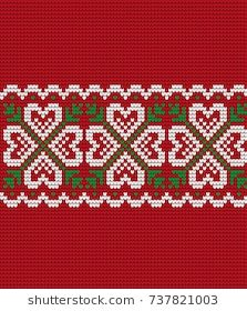 Knitted Christmas and New Year pattern Cross Stitch Boarders, Cross Stitch Flowers, Cross Stitch Patterns, Christmas Knitting, Christmas Sweaters, Knit Crochet, Knit Cowl, Christmas And New Year, Cross Stitch Embroidery