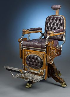Koken Barber Chair Circa Steampunk Interior Designs We Love at Design… Vintage Antiques, Vintage Items, Tattoo Shop, Antique Furniture, Farmhouse Furniture, Old School, Steampunk, Old Things, Cool Stuff