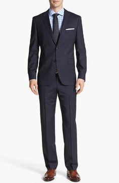 BOSS HUGO BOSS 'James/Sharp' Trim Fit Stripe Suit available at #Nordstrom