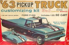 AMT - '63 Ford F-100 pick-up trick 3 in 1 customizing model kit