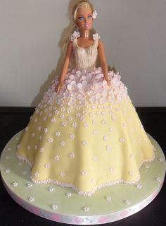 My very favourite cakes to make, my doll cakes! Shereen x