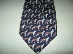 Vintage Raffaello Roma 100% Silk Tigris Tiger Pattern Necktie Tie Italy…