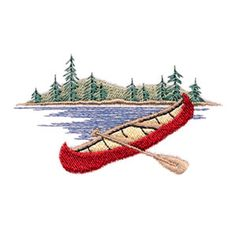 canoe embroidery pattern - Google Search