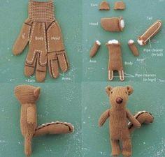 Come costruire uno scoiattolo da un guanto spaiato