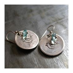 Little Birdie Hammered Sterling Silver Earrings