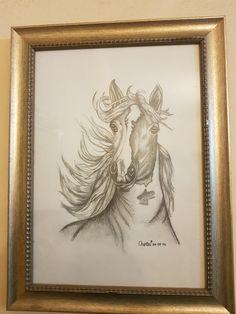 Horse Pencil, Horses, Frame, Home Decor, Art, Homemade Home Decor, Horse, A Frame, Kunst