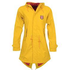 Derbe Regenmantel Frauen Anchor Travel Friese gelb rot - 44
