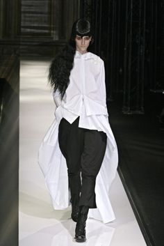 Yohji's white shirt -- and those TROUSERS!