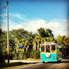 Captiva Island, Florida. Trolley! Actually going there for a week starting this Monday!!! :) SO excited!!