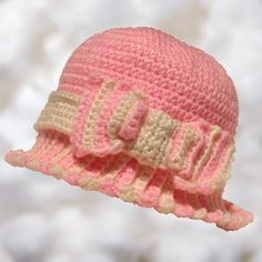 Crochet little girl hat on etsy.com/shop/BoutiqueofVirtuosity