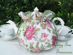 Tea Cozy for 68 Cup Teapot FLORAL MOSAIC by CozyTeaTreasures, $17.95