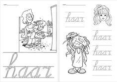 Schrijfblad VVL Kim versie kern 3 - haar Speech And Language, Homeschool, Letters, Teaching, Kids, Spelling, Occupational Therapist, Writing Fonts, Young Children