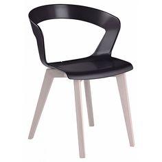 Silla moderna de plástico para cafetería, modelo IBIS WOOD