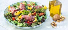 Salade met rosbiefrolletjes