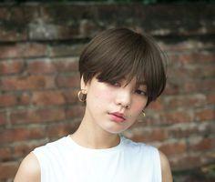 Short Hair Tomboy, Short Thin Hair, Girl Short Hair, Short Hair Cuts, Tomboy Hairstyles, Hairstyles Haircuts, Shot Hair Styles, Long Hair Styles, Korean Short Hair