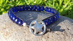 Blue Lives Matter Leather Wrap Bracelet by PieceOfInspiration #leatherwrapbracelet #beadedjewelry #policelivesmatter #bluelivesmatter #blue #policesupport #lawenforcementsupport #policewife