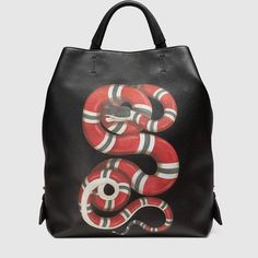 Gucci Snake print leather backpack (can also be worn as either a tote or shoulder bag)