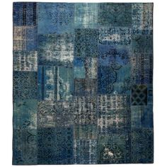PATCHWORK BLUE RUG 8.4X9.8 - Rugs | HD Buttercup Online - family room