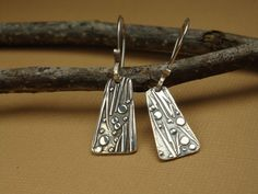 "Make these your FAVORITE ""go to"" earrings!  Fine Silver Earrings  PMC Earrings  Silver Paper by Silvermaven, $33.00"