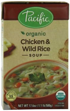 Pacific Natural Foods Organic Chicken With Wild Rice Soup, 17.6-Ounce Boxes (Pack of 12) *** Additional info  at Easy Dinner Meals board