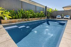 Project - Madeira 6 Slate Grey (Moreton Bay- Sunshine Coast) | Narellan Pools Pool Quotes, Free Pool, Fiberglass Swimming Pools, Pool Builders, Sunshine Coast, Pool Landscaping, Slate, Garden Ideas, Backyard