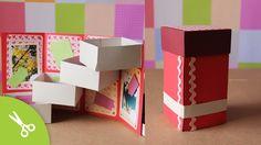 Caja con cajones: Guarda regalo - Dia de los enamorados // Origami box T...