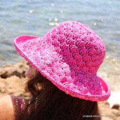 Ravelry: LyubavaCrochet's Crochet Shell Stitch Pink Summer Hat