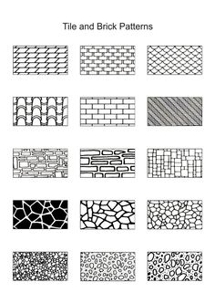 PEN & INK - TILE AND BRICK PATTERN TECHNIQUES