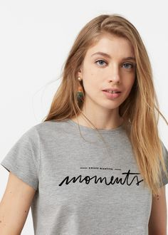Camiseta modal mensaje | MANGO