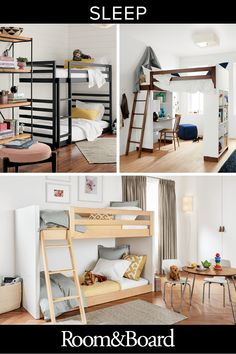 Room & Board kids bedroom sets and furniture offers modern, contemporary designs with many custom an Minimalist Kids Furniture, Room Interior, Interior Design Living Room, Design Interiors, Bedroom Furniture, Bedroom Decor, Bedroom Ideas, Bedroom Loft, Farmhouse Furniture