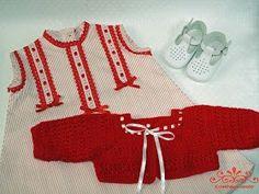 Rayas rojas para niñas de lo más modernas T3-6m