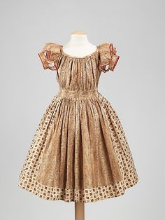 fashionsfromhistory:  Girl's Dress c.1850 United States