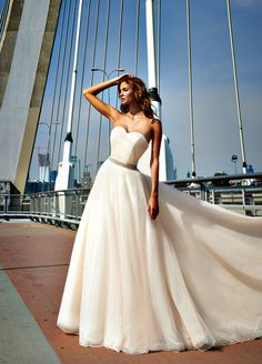 Justin Alexander wedding dress style 8638 is featured in the latest issue of Panna Mloda.