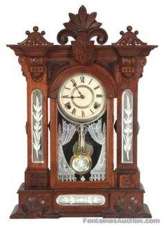 Gilbert Amphion Walnut Mantle Clock