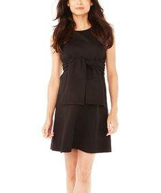 Look at this Black Kate Maternity Dress on #zulily today!