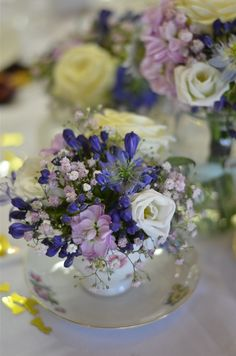Wedding Flowers Blog: Laura's Vintage, English Country Garden Wedding Flowers, Marwell Hotel