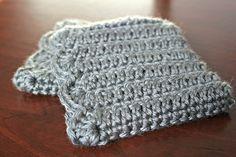 Crochet Boot Cuff in Grey Heather. via Etsy.