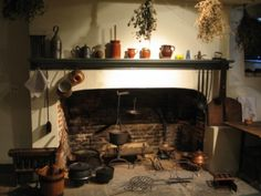 Colonial Fireplace With Cooking Tools Hartford House Stove Paint