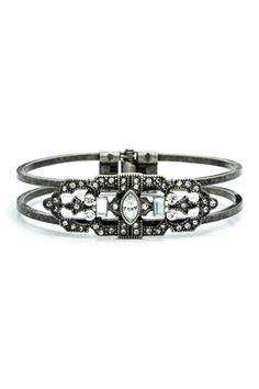 Deco Filigree Hinged Bangle from HauteLook on shop.CatalogSpree.com, your personal digital mall.