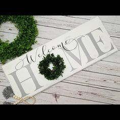 Check out this item in my Etsy shop https://www.etsy.com/listing/552216436/home-sign-home-sign-with-wreath-welcome