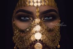 Tribal Face Chain Golden Regina, Burqa Face Mask - New ideas Face Jewellery, Body Jewelry, Anklet Jewellery, Tribal Face, Face Veil, Look Boho, Arab Women, Arabian Nights, Fashion Face