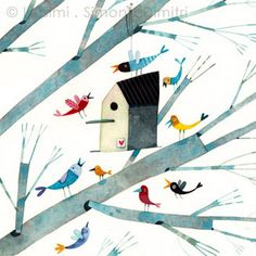 the birds are coming for a party! by illusimi, via Flickr