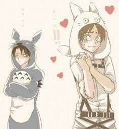 ereri in totoro costumes ^_^ so cute!