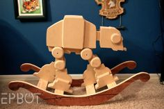 STAR WARS-Inspired AT-AT Rocking Horse--- Ok people if I ever have a kid this is a must have just as a heads up!!!